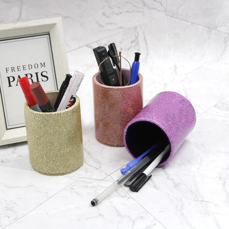 Eyebrow Tools & Stencils 1Pc PU Leather Makeup Brushes Holder Travel Cosmetic Bag Case Organizer Pens Tube Cup Container Solid Tool