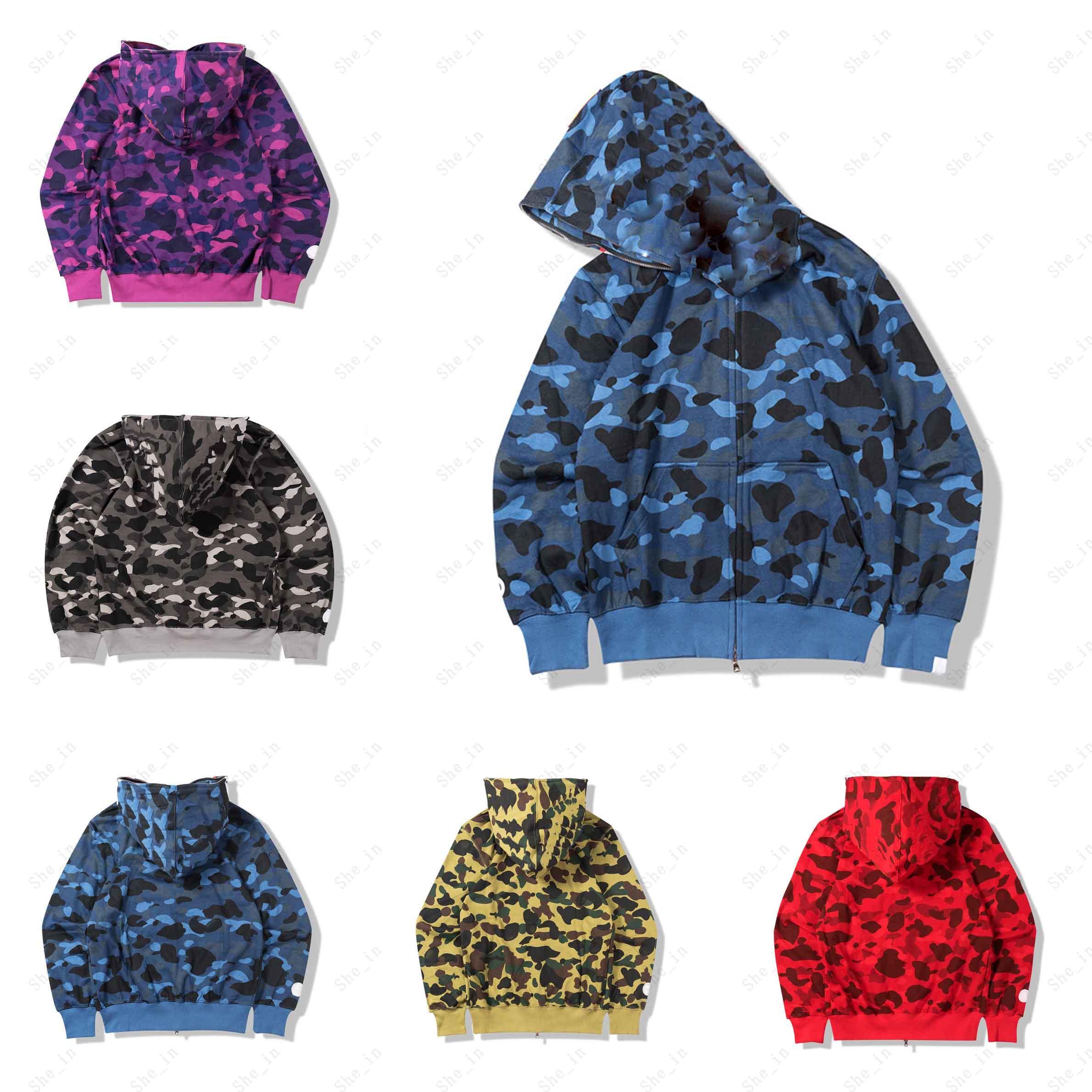 Vestes de mode pour hommes Adolescent Camouflage Modèle de camouflage Streetwear Hommes Vêtements d'extérieur Spring Automne Manteaux Boys Sweat Veste
