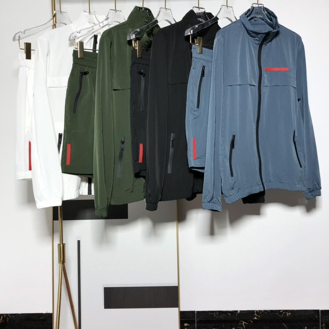 21SS Brand Mens Designer Skin Coat Giacca giacca e pantaloncini Casaul Running Men's TrackSuits Classic Fashion Pra-- Famoso