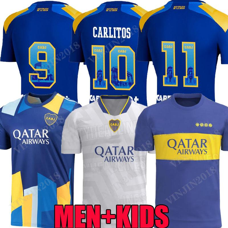 Versão do jogador 21 22 22 Boca Juniors Juniors Jerseys Pavon Salvio Tevez De Rossi 2021 2022 Marcos Rojo Maroni Bombonera Ausente Terceiro Homens Kit Kit Football Shirts