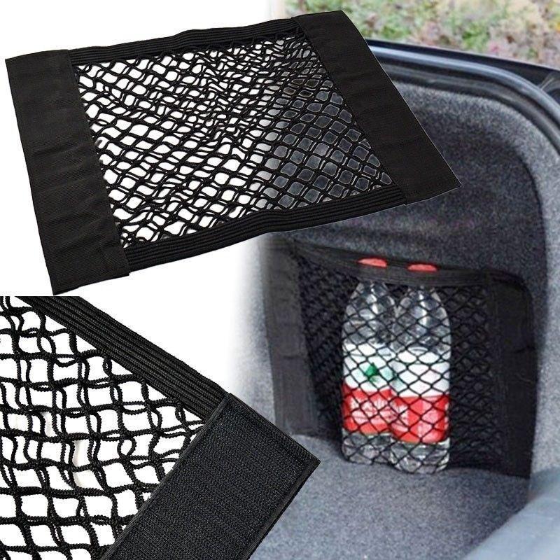 Car Storage Bag Vehicle Back Rear Trunk String Net Seat Elastic Magic Sticker Mesh Pocket Cage-Seat BackBag