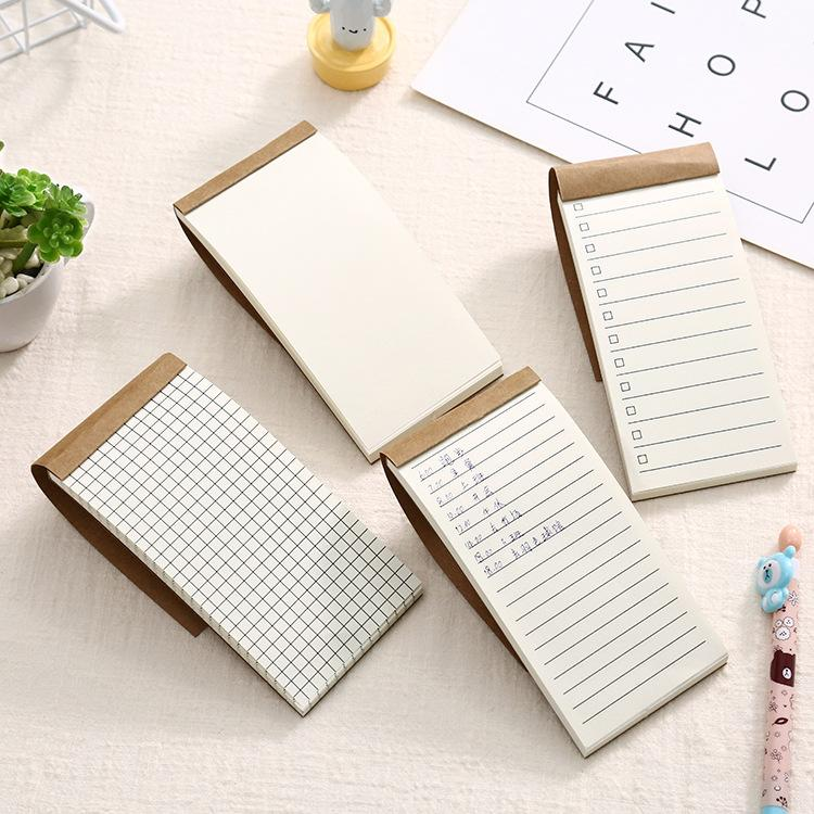 50 folhas / pcs bolso papel kraft memo pad bloco de papelaria bloco de papelaria scrapbooking memorando notas para fazer lista Lista de verificação de lágrima nota blank branco etiquetas