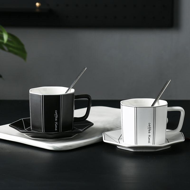 Seramik Kahve Fincanı Daire Basit Continental Office Kupalar Yaratıcı Kahvaltı