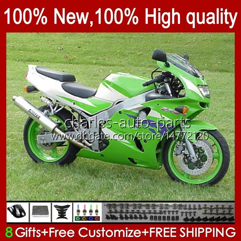 Kawasaki Ninja ZX-6R ZX600C ZX 6R 636 600CC 600 CC 94-97 바디 50HC.113 그린 공장 BLK ZX-636 ZX600 ZX 6 R ZX636 1994 1995 1996 1997 ZX6R 94 95 96 97 페어링 키트