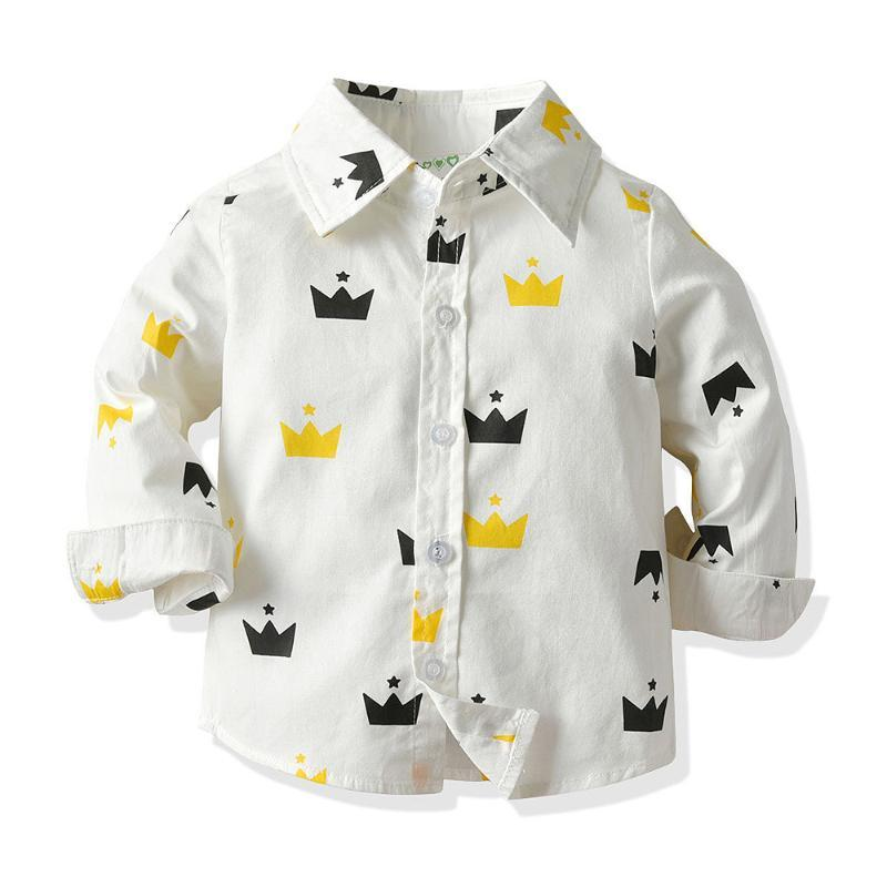 Shirts 2021 Spring Autumn Fashion Boutique Children Kids Toddler Boys Printing Cotton Clothes Clothing Long Sleeve Blouse Shirt Tops