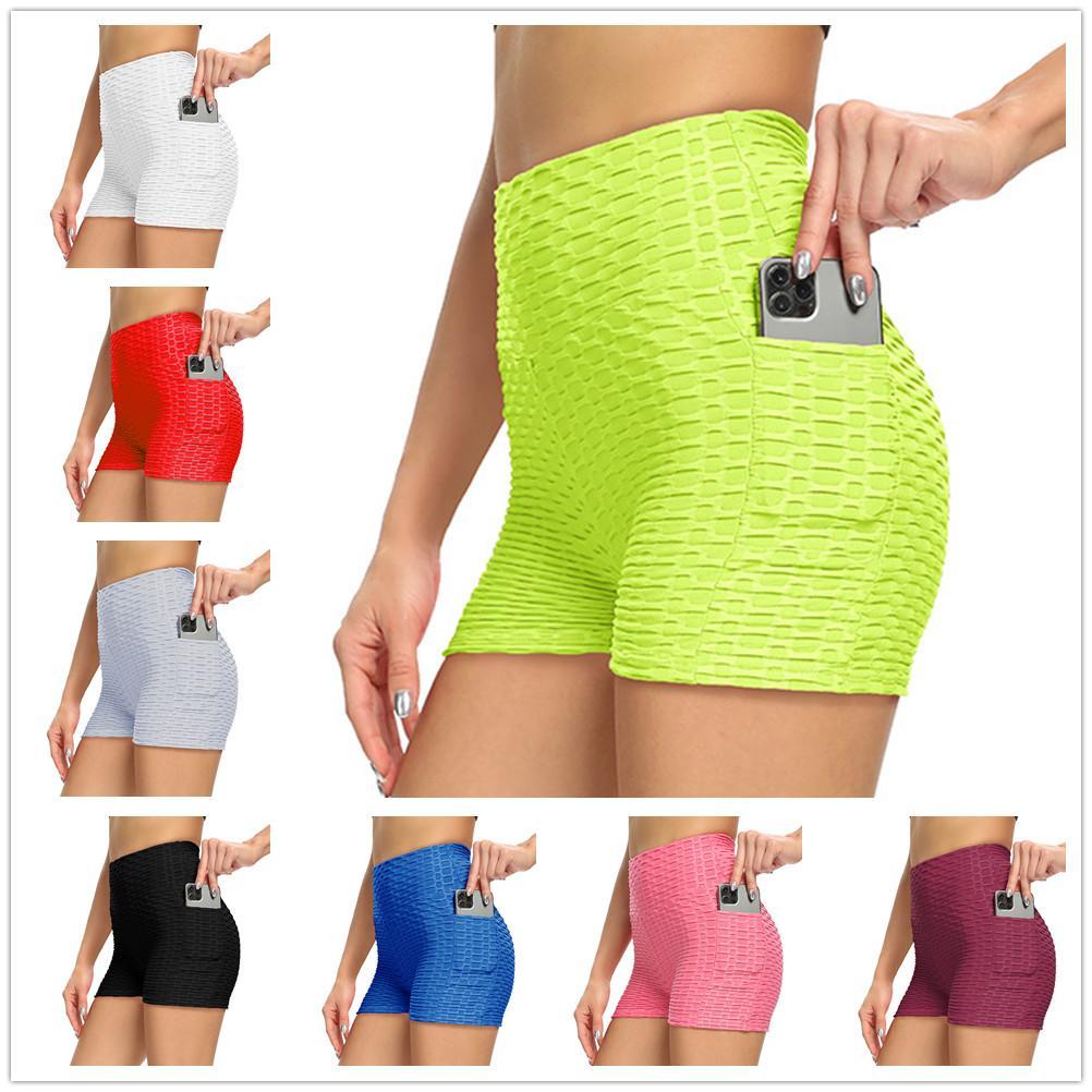 Shorts Femmes Leggings Summer Yoga Gym Jogging Short respirant Fitness Fitness Solide Couleur mince Sports Skinny Tiktok Legging Lu 2021 S / M / L / XL / 2XL