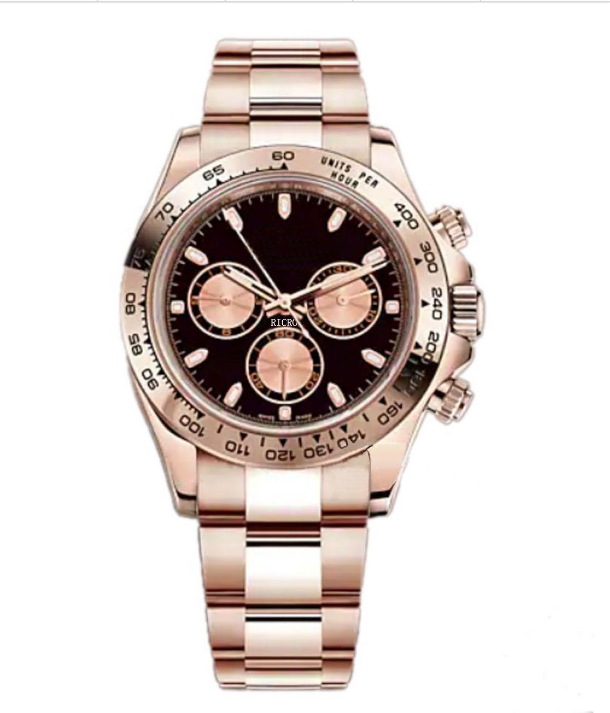 시계, 마스터 디자인, 남성 스포츠 스타일, 자동 운동, 로즈 골드 스테인레스 스틸 케이스, 접이식 버클, 도매 및 소매