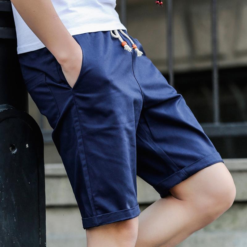 Шорты две бусы 2021 хлопок 5-5 мужские повседневные свободные пляжные средние штаны
