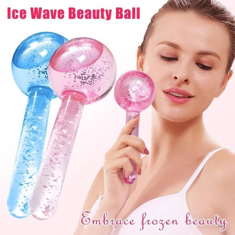 Grande bellezza Ghiaccio Hockey Energy Crystal Ball Ball Massage Raffreddamento facciale Globes Water Wave per massaggi per gli occhi Cura della pelle 2pcs / scatola