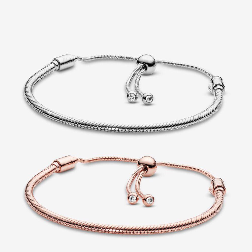 Pandora Pulseiras Mulheres Jóias Momentos Snake Cadeia Slider Charme Bracelet Design Moda Clássico Senhora Presente Com Caixa Original