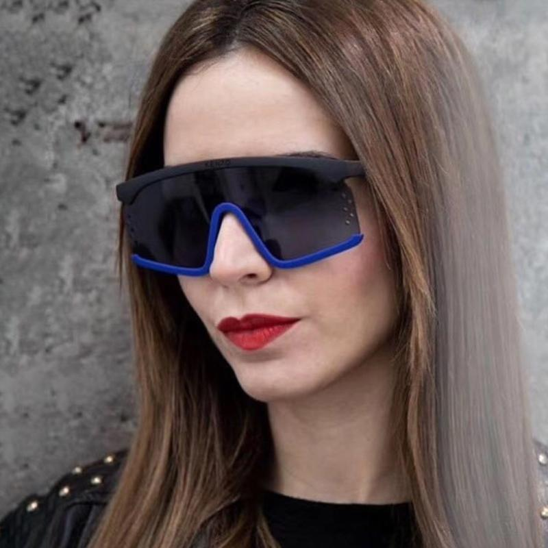 Grande armação de óculos de sol mulheres de grandes dimensões sunglasses sunglasses tint lente tonalidade luxo um pedaço de verão óculos anti-UV