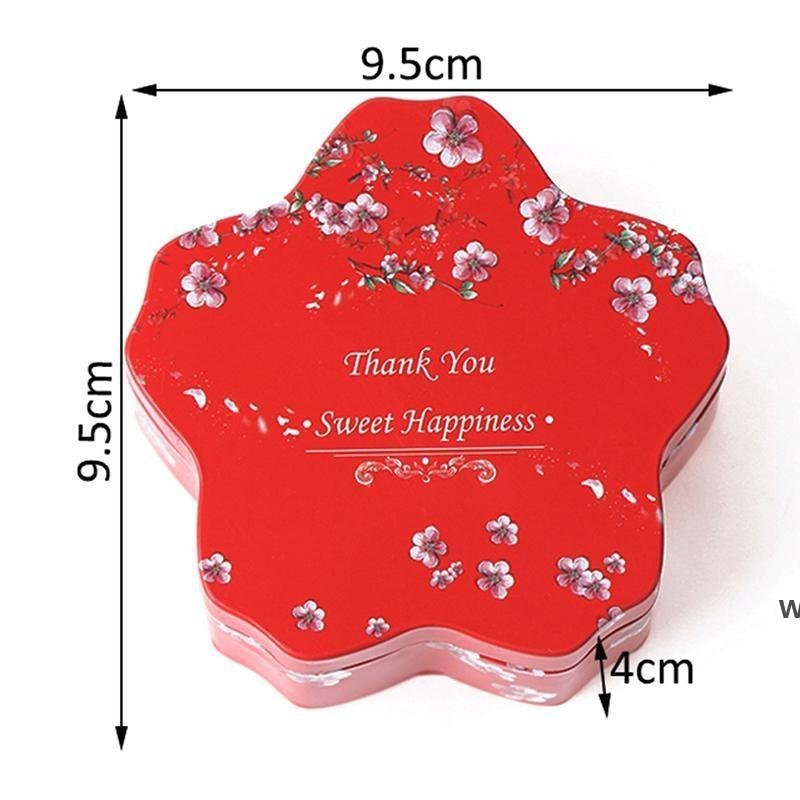حلوى كوكي مربع احتفالي حزب اللوازم الزفاف الصفيح هدية التعبئة والتغليف تفضل التفاف DHE6001