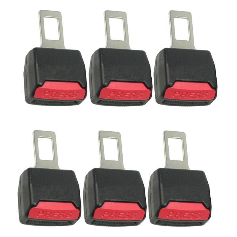 6X regolabile clip sedile auto clip estensore di sicurezza sicurezza cintura serratura tappo fibbia spina inserto inscatolamento spessore cinghie accessori