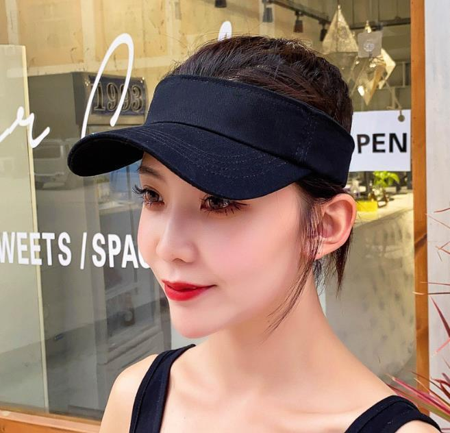 Summer Unisex Empty Top Sun Visor Hat Knitting Wide Brim Caps UV Protection For Men And Women Hats