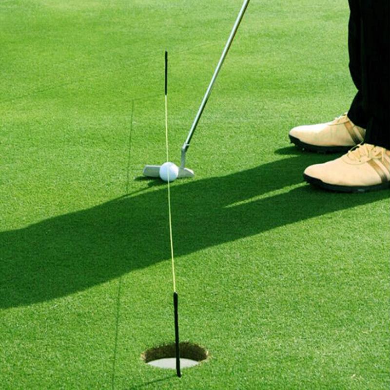 Accessories Fiberglass Indoor Outdoor String Peg Training Aids Direction Practice Golf Alignment Stick Easy Fix Professional