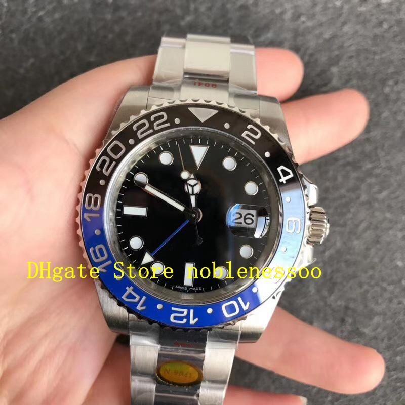 Super n Factory 904L Stahl Uhren V11 Männer 40mm 116710LN Keramikscholle 116710Blnr Saphhire Glas 116710 Schwarzes Zifferblatt Noobf Automatische Cal.3186 Bewegung Herrenuhr