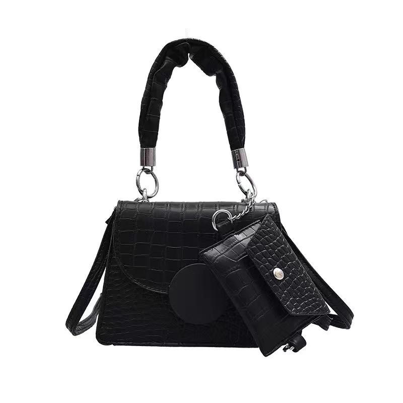 PB0018 패션 여성의 PU 가죽 숄더백 코인 지갑 메신저 가방 레이디 화이트 레드 블랙 보라색 4Colors