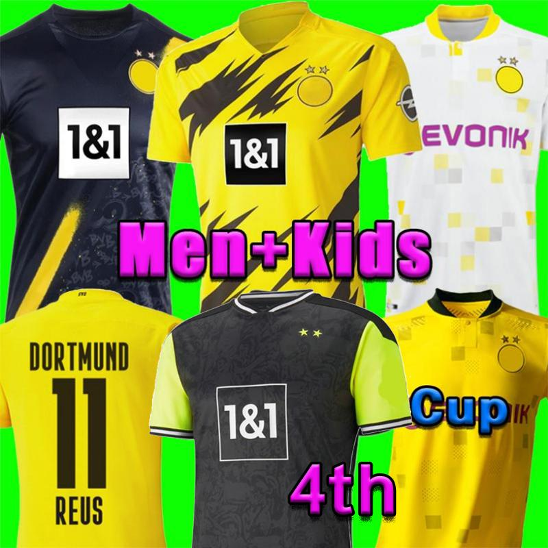 Haaland Reus Borussia 20 21 Dortmund 축구 유니폼 2020 2021 축구 셔츠 Bellingham Sancho Hummels Brandt 남자 + 키트 키트 Maillot 드 발