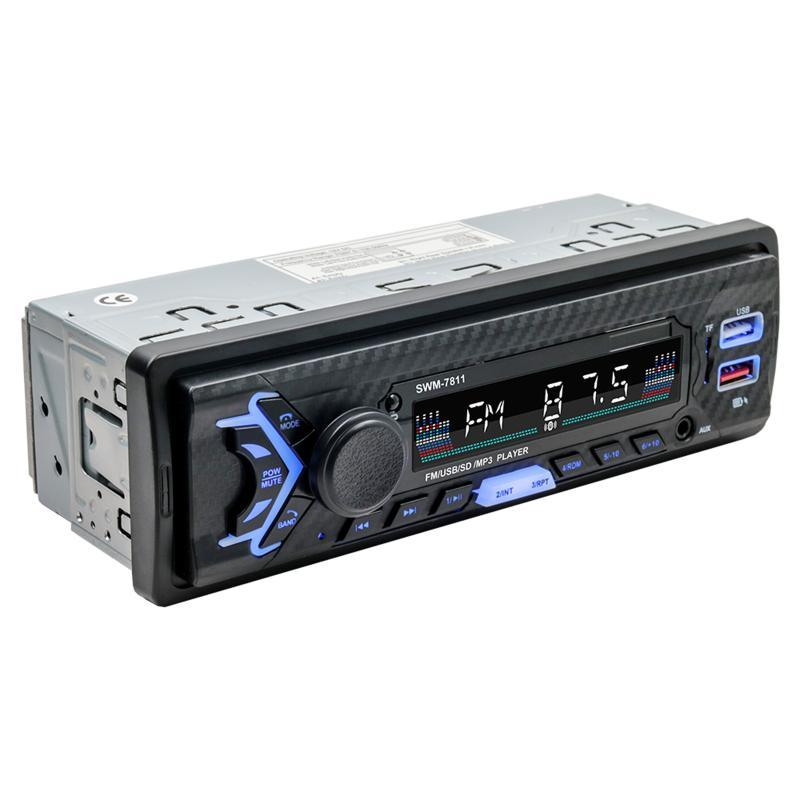 & MP4 Players Docooler SWM-7811 1 Din Car MP3 Player Digital FM Radio With Steering Wheel Remote Control Support BT USB TF Card AUX Input