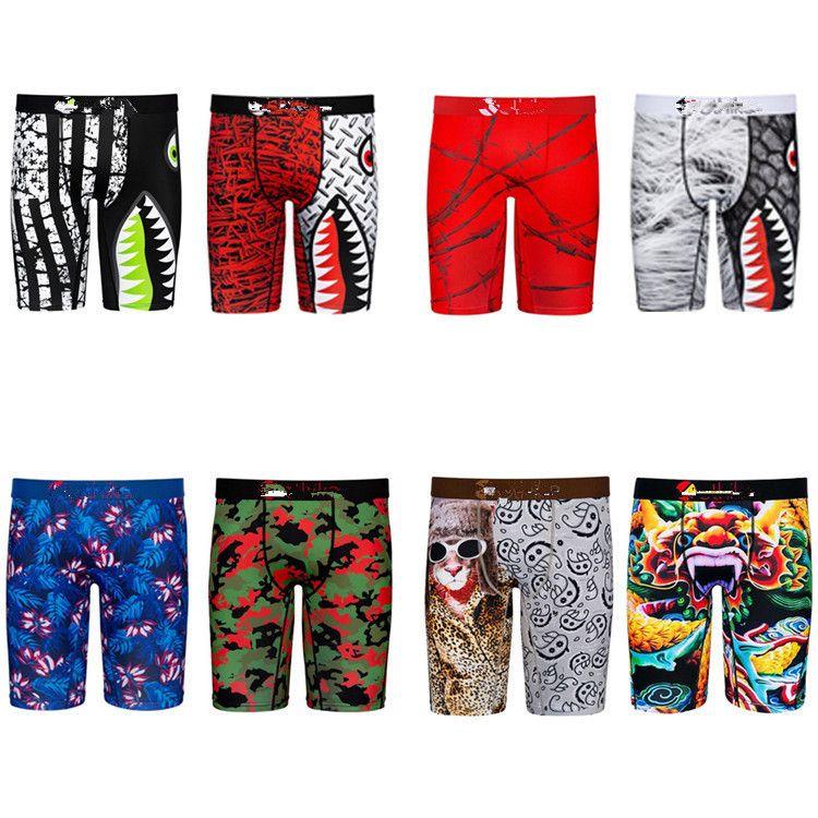 Mais novo cu underpants boxer briefs animal impressão moda designer homens boxers underwears marca underpant para homens underwear