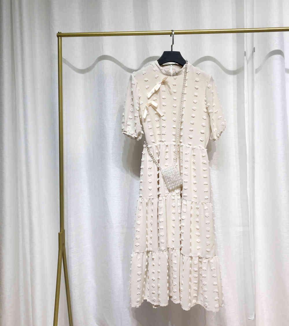 2020 a linie neue mädchen bogen sommer böhmischen langen kleid frauen mode sommer solide beiläufige kleidung kurze hülse party kleider vestidos