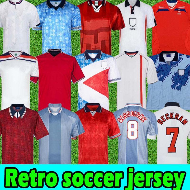 En iyi Retro Futbol Forması 1982 1986 1989 1990 1994 1996 İngiltere Vintage Klasik Futbol Futbol Formaları Shearer Gascoigne 1998 2002 2008 Beckham Gerrard Scholes Owen Heskey
