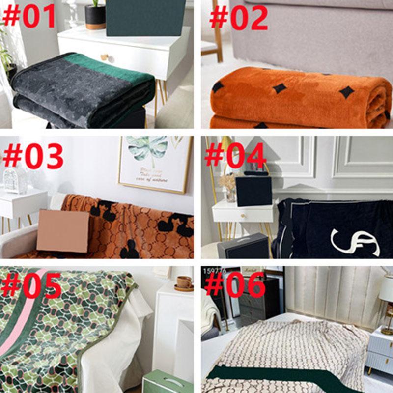 10 Arten Home Klimaanlage Decken Klassische Designer Buchstabe Jacquard Decke Atmungsaktives weiches Schal für Erwachsene