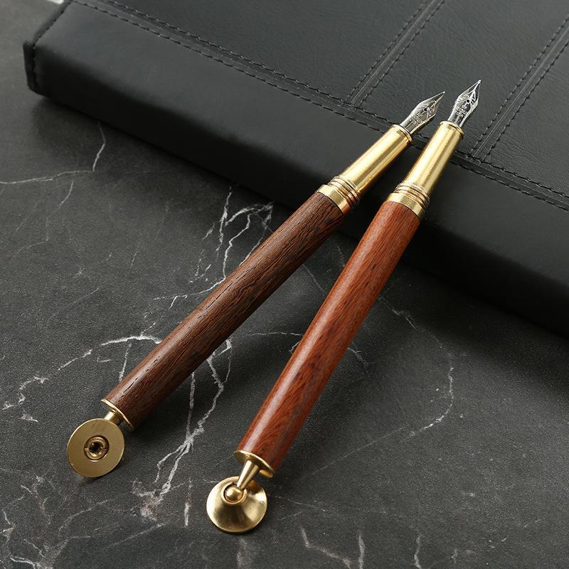 Presente de madeira do negócio da caneta de madeira das canetas da fonte 0.5mm