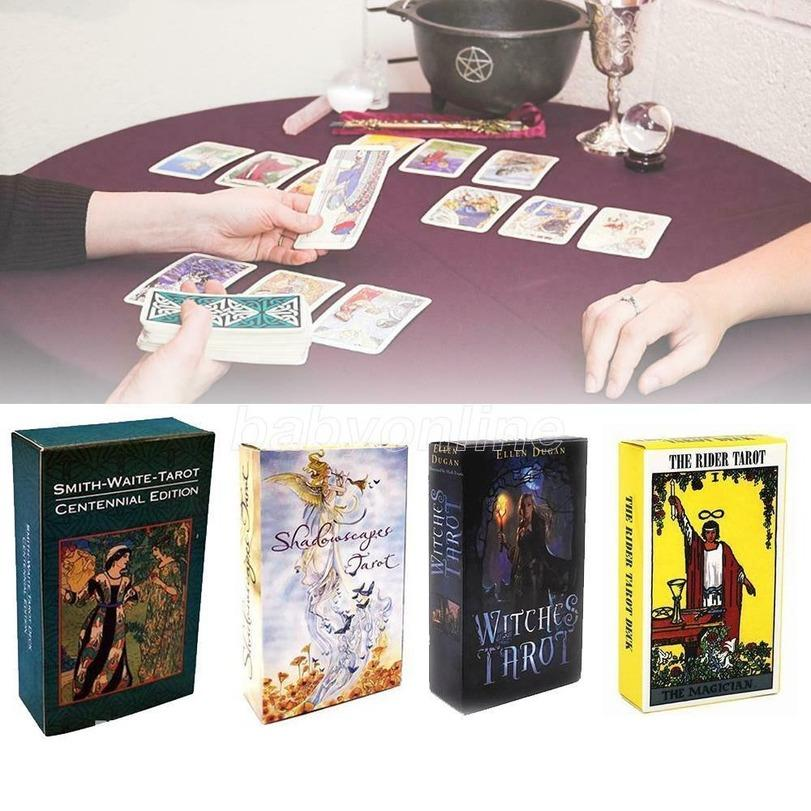 2021 Latest 15 Styles Tarots Witch Rider Smith Waite Shadowscapes Wild Tarot Deck Board Game Cards with Colorful Box English Version