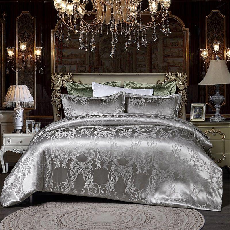Designer cama edredons conjuntos de luxo 3 pcs casa conjunto de cama Jacquard Duveta cama de cama gêmeo único rainha cama king size conjuntos de roupa de cama 473 v2