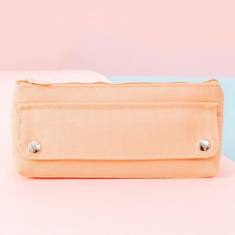 Oxford Cloth Pencil Case Kawaii Student Stationery Box Pen Bag Pouch School Supplies White Pink Green Yellow 898 B3