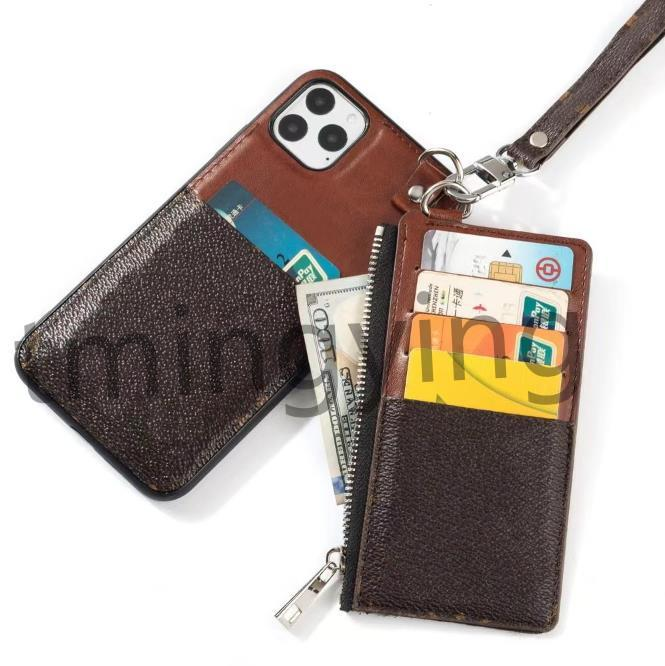 Luxury Designer Flowers Phone Cases For iPhone 13 Pro Max 12 mini 11 XS XR X 8 7 Plus Wallet Case Card Holder Cover With Coin Purse Bag Slots