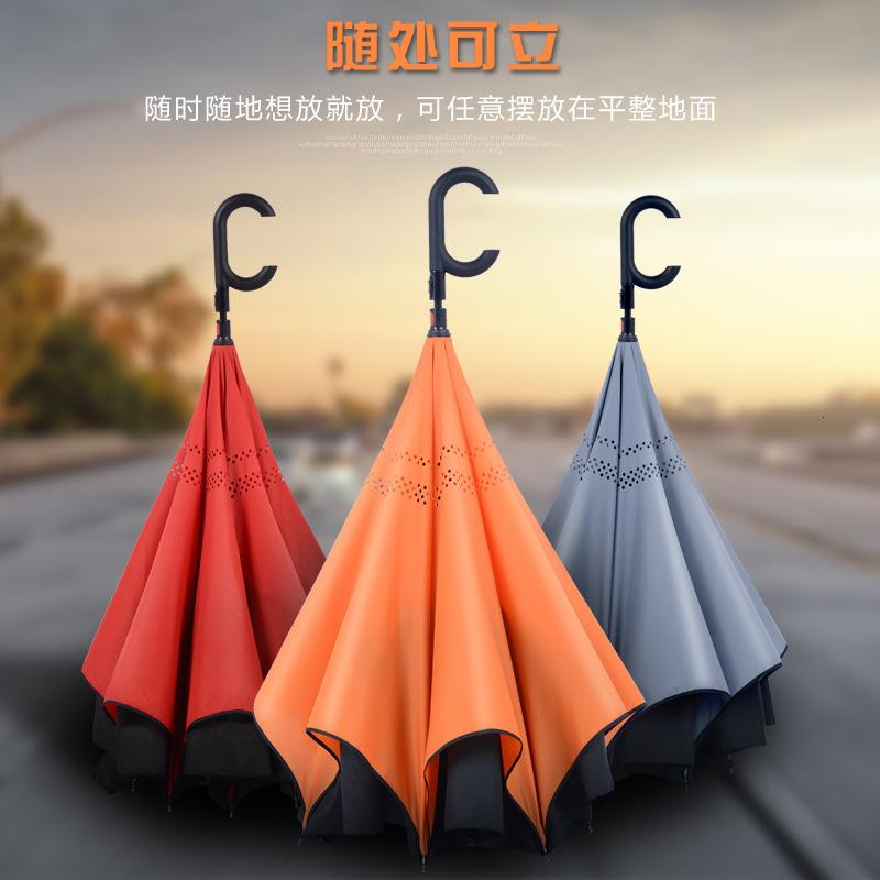 Reverse for Car Carrying Men's Umbrella Full Automatic Super Large Double Long Handle Women's Advertisement