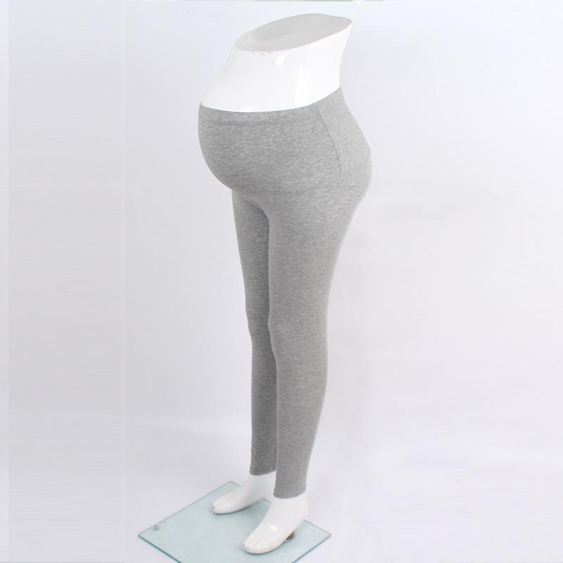 Daisy Cindy Embarazada Mujeres Primavera y otoño Pantalones de vientre delgados de nueve puntos Etiqueta ajustable de tamaño