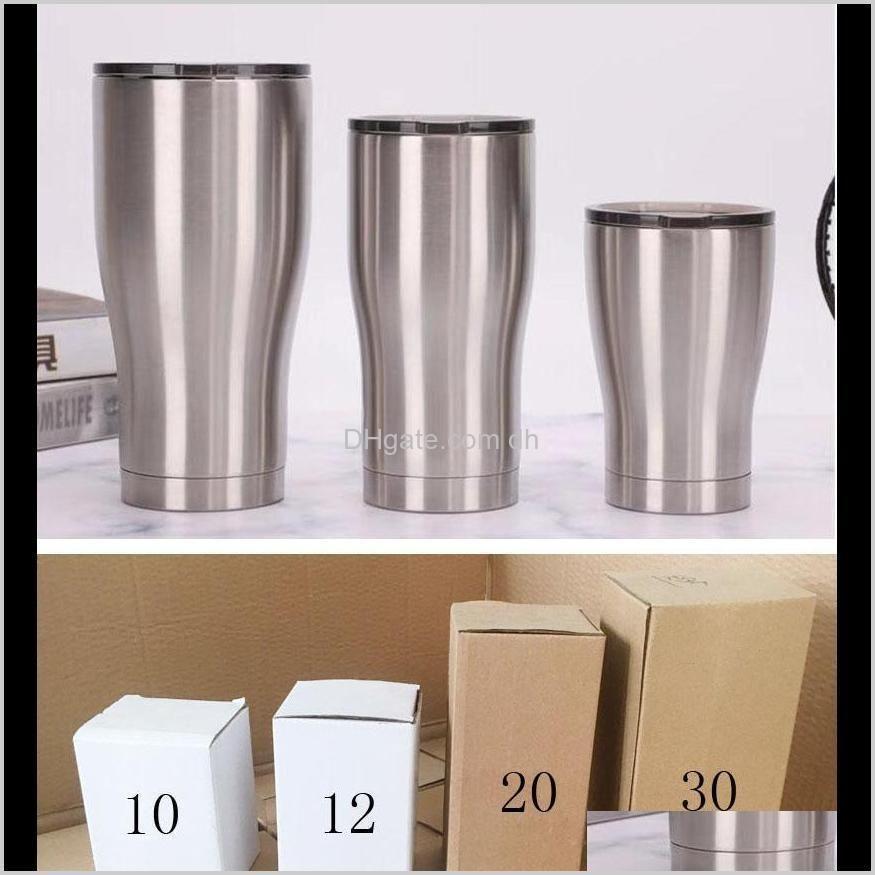 Kupalar 36 oz su şişesi 30 oz 20 oz 14 oz 12 oz 10 oz Kebe Soğuk Şarap Tumbler Yalıtımlı Kahve Kupa Avialble Owb2606 PM9OG N7LRA