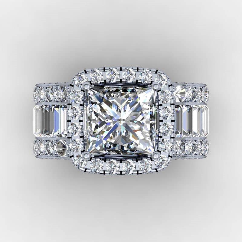 Vintage Severler Mahkemesi Yüzük 3CT Elmas 925 Ayar Gümüş Nişan Düğün Band Yüzük Kadın Erkek Parmak Takı Hediye