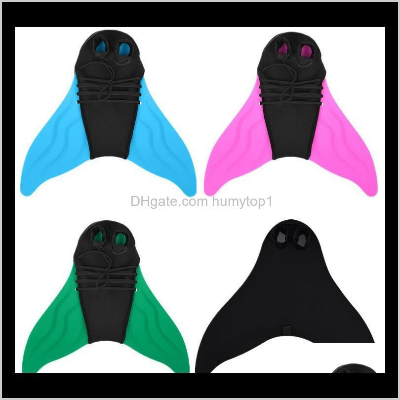 Diving Monofin Soft Breathable Adjustable Mermaid Swim Fish Tail Shape Swimming Foot Per For Child And Adults 42Xy B Toit Gloves Ez94J