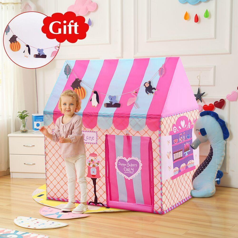 Yard Kids Spielzeug Zelte Kinder spielen Zelt Junge Mädchen Prinzessin Schloss Indoor Outdoor Kinder Haus Spiel Ball Pit Pool Spielhaus 210402