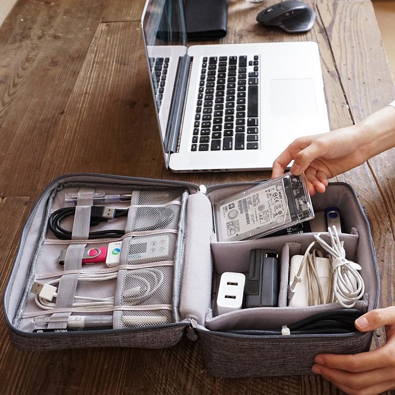 Duffel Bags Digital Bag Travel Storage Unisex Multifunctional Data Cable Large Capacity Mobile Power Headset Box