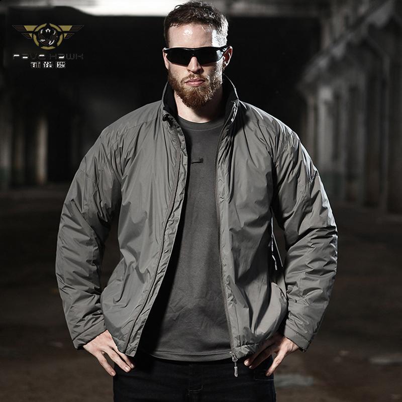 남자 겨울 전술 재킷 미국 육군 군사 따뜻한 파카 작업 의류 가을 야외 방풍 방수 빛 outwear 코트 다운 공원