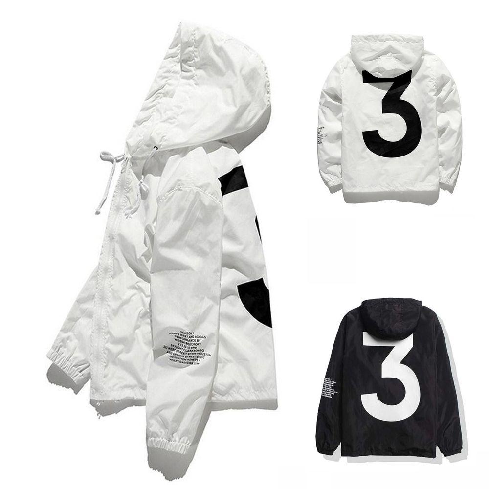 En Satış Yüksek Kalite Erkek Kanye West Ceket Hip Hop Rüzgarlık Moda Tasarımcısı Ceketler Erkek Kadın Streetwear Giyim Coat