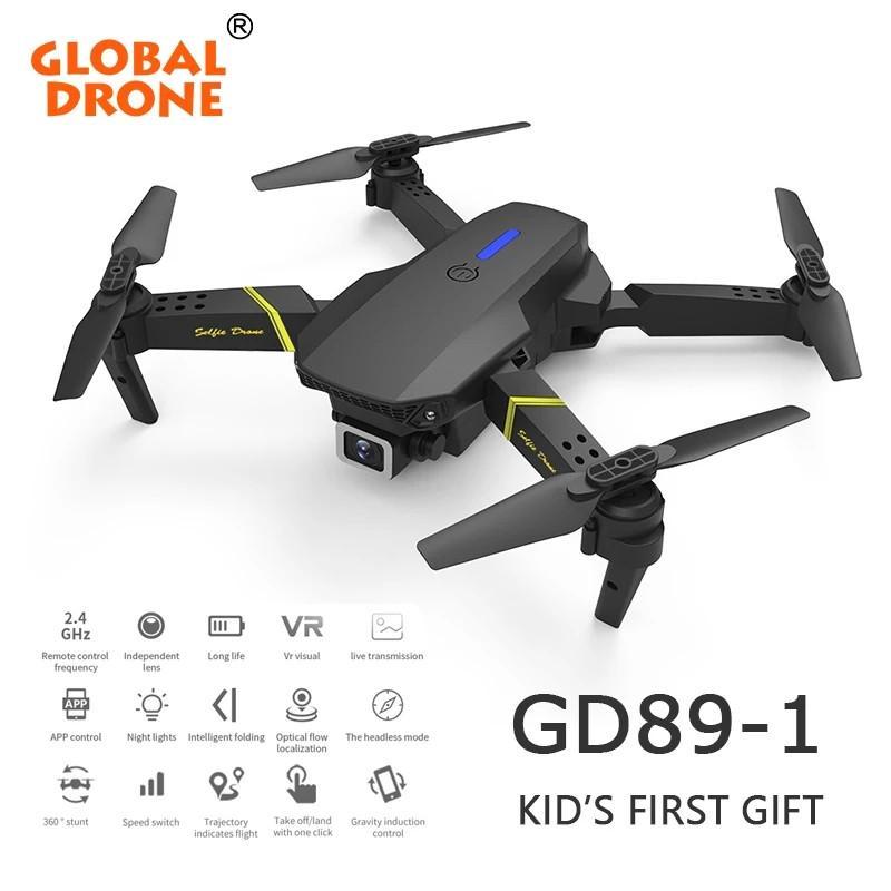 Global Drone 4K Cámara Mini Vehículo WiFi FPV PROFESIONAL PROFESIONAL DE RC PROFESIONAL DE RC Selfie Drones Juguetes para batería para niños GD89-1