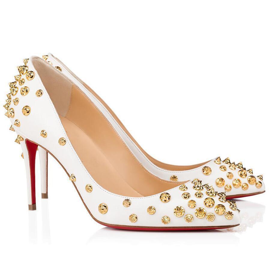 Обнаженные черные сандалии кожаные женские шипы красные дна aidantaclou stated toe насосы знаменитые сексуальные леди партии платье высокие каблуки eu35-43