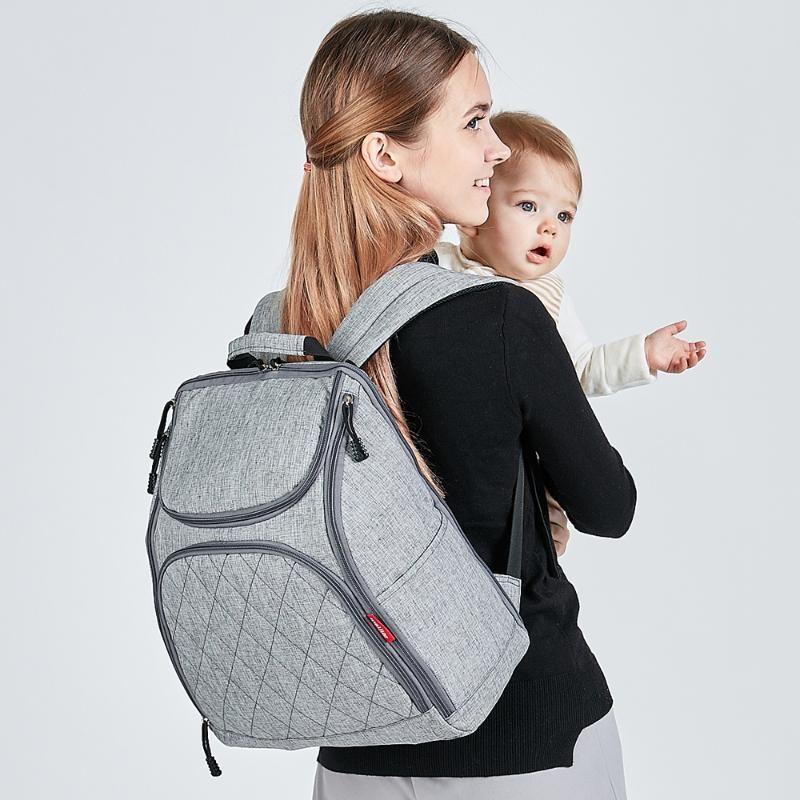 유아용 미라 기저귀 배낭 태어난 아기 대용량 여행 간호 기저귀 가방 방수 기저귀 변경 유모차 가방