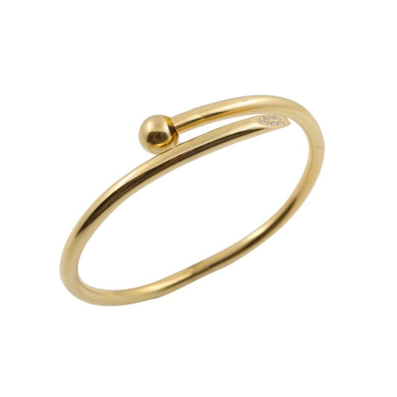 Bracelet femme bracelet en acier inoxydable en acier inoxydable 18k bracelet coeur serrure hidelle de luxe de luxe bijoux femmes bracelets avec boîte d'origine