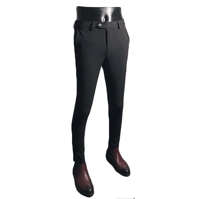 Abiti da uomo Blazers Helisopus Men Dress Pants Black Grey Suit Fashion Business Casual Skinny Pantaloni