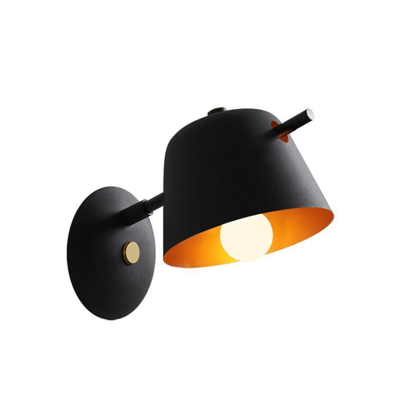 مصباح الجدار مصمم قبعة مصابيح غرفة نوم السرير الشمال غرفة المعيشة مرآة المصباح القراءة الحديد الشمعدان أضواء ديكو تركيبات