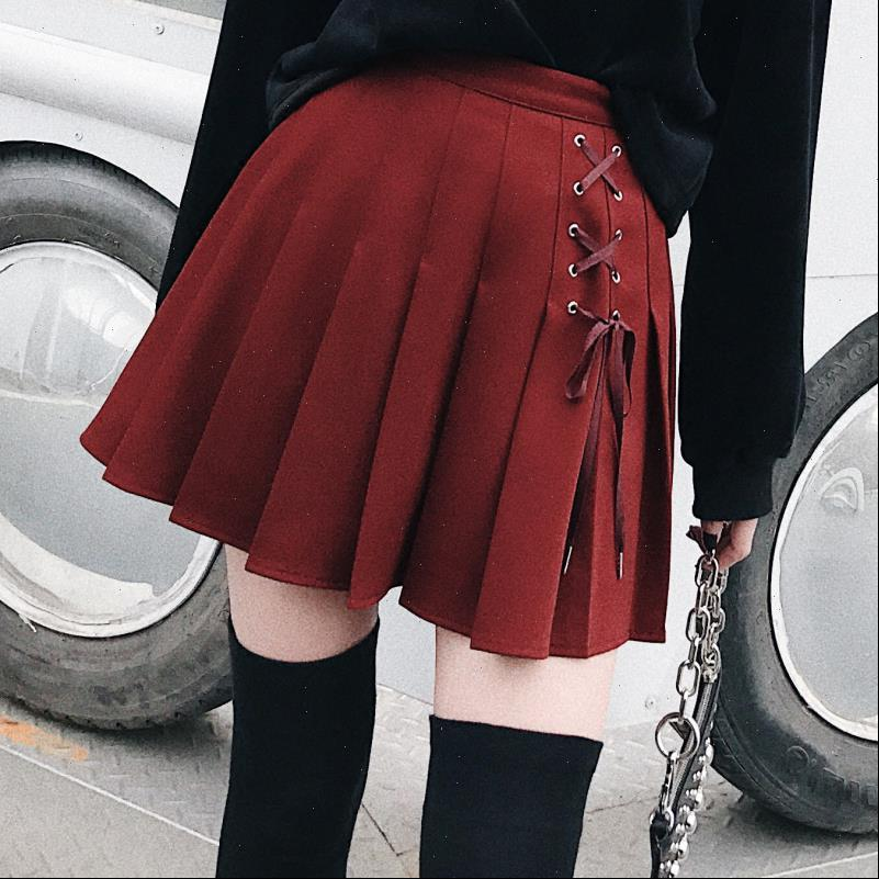 Women Pleated Tennis Womens Skirts Skort with Side Lace Up Details Preppy Style Mini Skirt Drop Good Quality