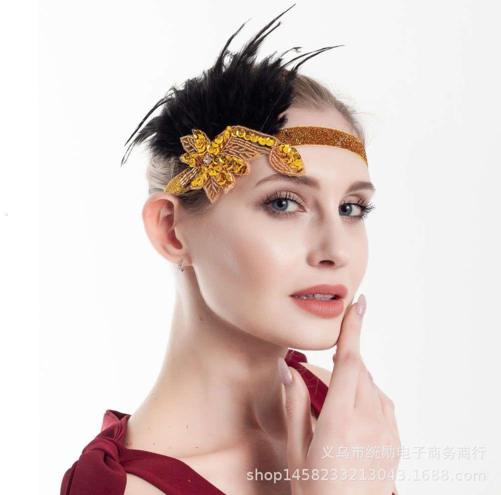 Avestruz Feather Mascarada Bola Tocado Gatsby Diadema