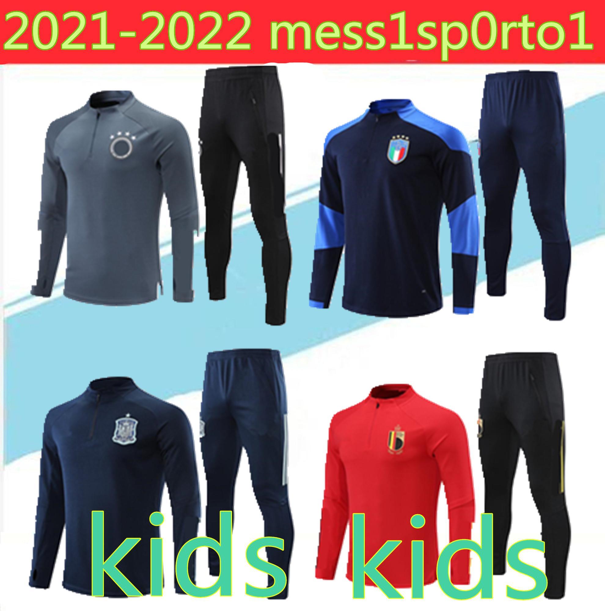 2021 Детская национальная команда Германия Италия Испания Вернер Киммич Brant пиджак наполовину вытягивает футбольный костюм